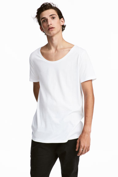 Modal-blend T-shirt - White - Men | H&M GB