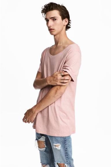 Modal-blend T-shirt - Light pink - Men | H&M GB