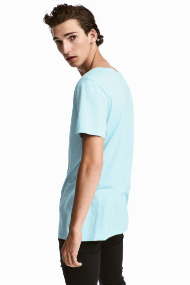 Modal-blend T-shirt - Light blue - Men | H&M CN 1