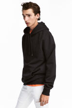 Hooded top - Black -  | H&M GB 1