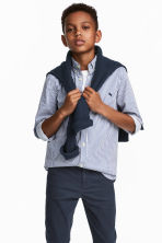 Cotton shirt - Blue/White striped - Kids | H&M 1