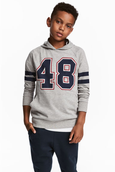 Jersey hooded top - Grey - Kids | H&M 1