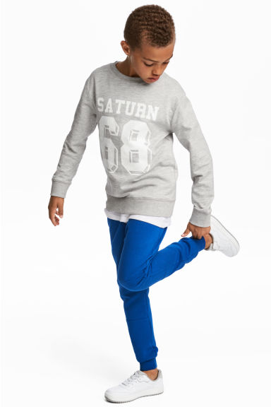 Low-crotch joggers - Bright blue - Kids | H&M
