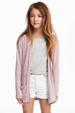 Fine-knit cardigan - Old rose -  | H&M 1