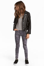 Biker trousers - Grey washed out -  | H&M CA 1