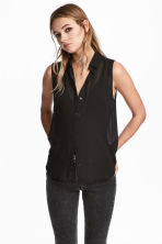 Sleeveless blouse - Black - Ladies | H&M CA 1