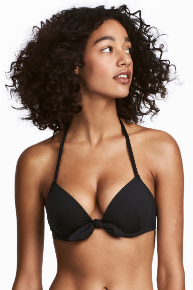 Push-up bikini top - Black - Ladies | H&M