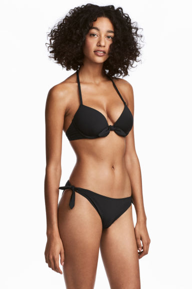 Bikini bottoms with ties - Black - Ladies | H&M 1