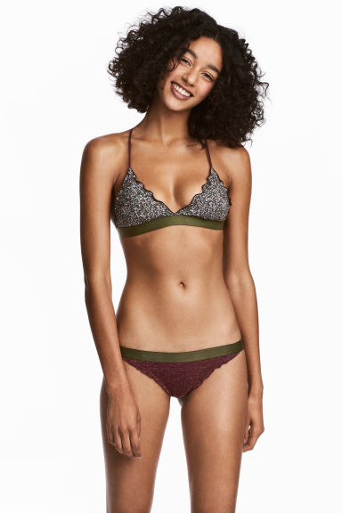 Bikini bottoms Super Low - Khaki green -  | H&M 1