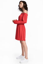 Off-the-shoulder dress - Red - Ladies | H&M 1
