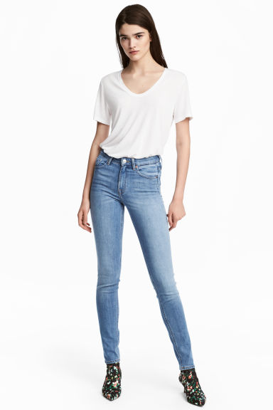 Skinny Regular Jeans - Light denim blue - Ladies | H&M 1