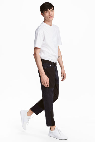 Color-block Jeans - Black/Blue-grey - Men | H&M CA 1