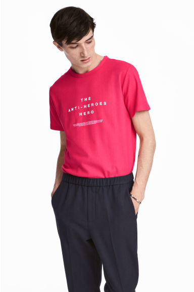 T-shirt in piqué di cotone - Rosa - UOMO | H&M IT 1
