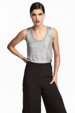 Shimmering top - Silver-coloured - Ladies | H&M 1