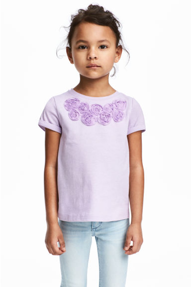 Jersey top with sequins - Purple - Kids | H&M 1