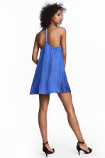 Satin dress with studs - Cornflower blue - Ladies | H&M 1