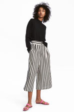 Wide trousers - Black/White/Striped -  | H&M 1