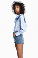 High Waist Denim shorts - Denim blue - Ladies | H&M 1