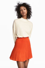 Pleated skirt - Orange - Ladies | H&M CN 1