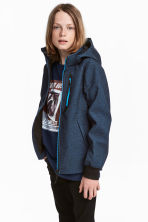 Giacca softshell - Blu scuro mélange -  | H&M IT 1