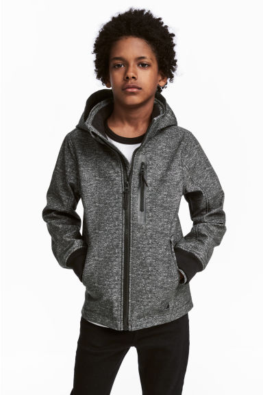 Softshell Jacket - Dark gray melange -  | H&M CA 1