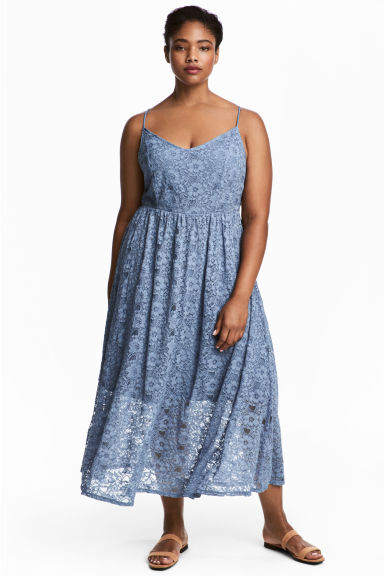 H&M+ Lace dress - Light blue - Ladies | H&M 1