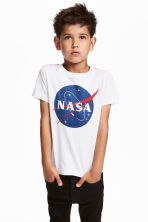 Printed T-shirt - White/NASA - Kids | H&M 1