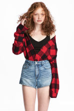 Flannel shirt - Red/Checked - Ladies | H&M 1