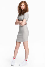 Ribbed Dress - Grey - Ladies | H&M CA 1