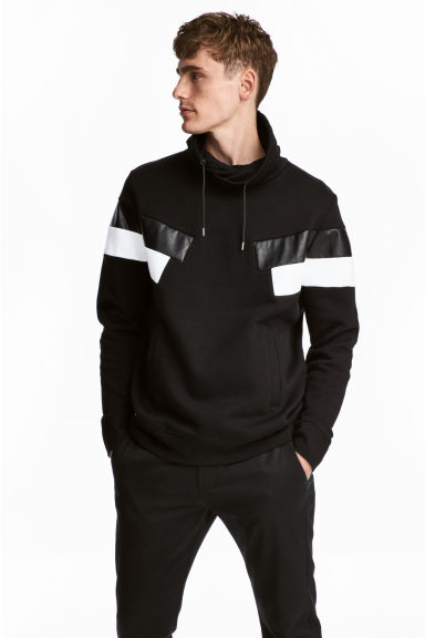 Funnel-collar sweatshirt - Black - Men | H&M CN 1