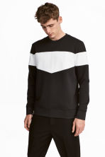 Block-patterned top - Black/White - Men | H&M CA 1
