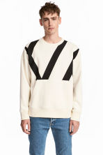 Oversized top - White/Black - Men | H&M CN 1