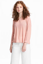 Ribbed jumper - Powder pink - Ladies | H&M 1
