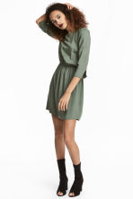 Short dress - Khaki green - Ladies | H&M 1