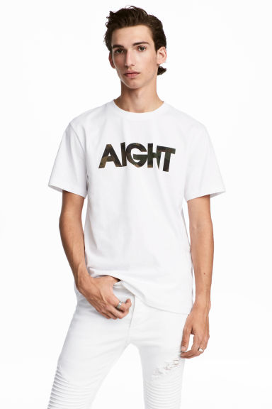 Printed T-shirt - White -  | H&M GB