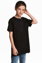 Cotton T-shirt - Black - Kids | H&M CA 1