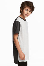 Cotton T-shirt - Light grey marl - Kids | H&M 1