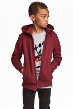 Hooded jacket - Burgundy - Kids | H&M CN 1