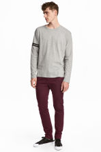 Pantalon en coton Skinny fit - Bordeaux - HOMME | H&M BE 1