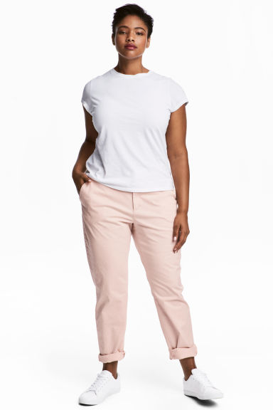 H&M+ Chino - Rose poudré - FEMME | H&M BE