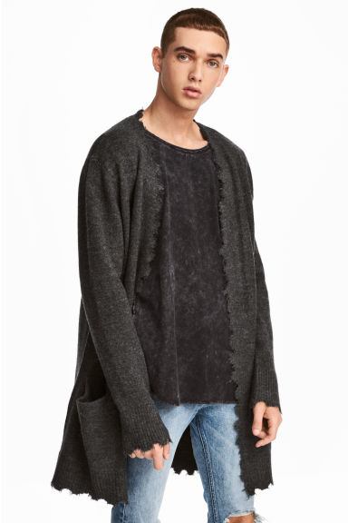 Knit Cardigan - Dark gray - Men | H&M CA 1