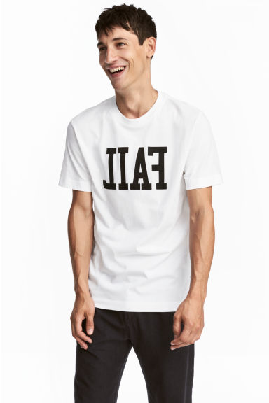 Printed T-shirt - White - Men | H&M CA 1