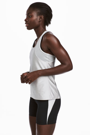 Running vest top - Silver - Ladies | H&M 1