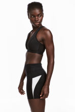 Short running tights - Black - Ladies | H&M IE 1