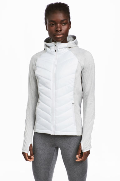 Padded outdoor jacket - Light grey - Ladies | H&M CN 1