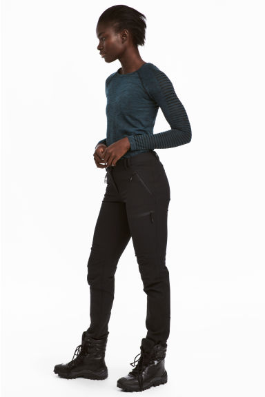 Stretch outdoor trousers - Black - Ladies | H&M 1