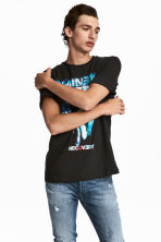 T-shirt with a print motif - Svart/Eminem - Men | H&M CN 1