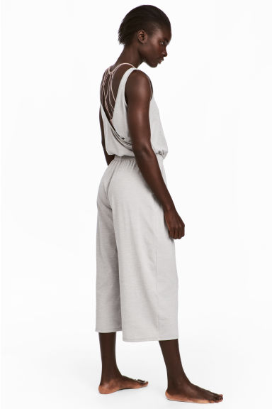 Yoga jumpsuit - Light grey marl - Ladies | H&M 1