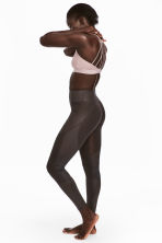 Yoga tights - Dark brown - Ladies | H&M 1