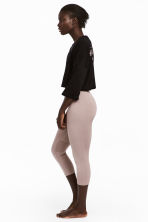 Seamless yoga tights - Powder pink - Ladies | H&M GB 1